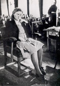 """Dinge en Goete (Things and Stuff): This Day in WWII History: Jan The """"Witch of Buchenwald"""" is sentenced to prison Ww2 Pictures, European History, American History, Buchenwald Concentration Camp, Crime, History Photos, Second World, Vietnam War, Museum"""