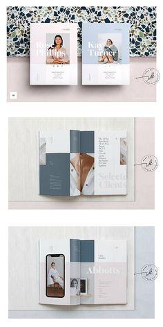 Design layout brochure brocher 42 Ideas for 2019 Portfolio Covers, Portfolio Book, Portfolio Layout, Creative Portfolio, Portfolio Design, Company Portfolio, Editorial Layout, Editorial Design, Brochure Design