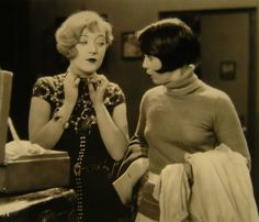 Marion Davies and Thelma Hill in The Fair Co-Ed (1927)