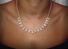 Freshwater Cultured Pearl Necklace Peanut Pearl with Sterling Silver by CMFDesignsJewellery on Etsy