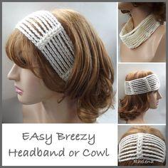 Crochet Easy Breezy Headband or Cowl, http://crochetjewel.com/?p=10712