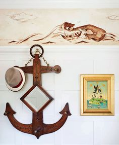 nautical decorations, room colors and modern interior design ideas Beach Living Room, Coastal Living Rooms, Modern Interior Design, Modern Decor, Deco Marine, Living Room Themes, Nautical Home, Nautical Style, Deco Originale