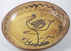 Michael Cardew, 'Stork' slipware pie dish, 1928 (C241)