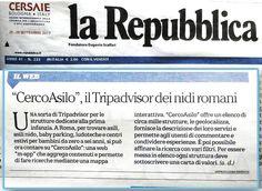 Parla di #CercoAsilo anche La Repubblica (pagina 9 sezione Cronaca)