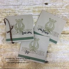 Stampin\' Up! Musical Season 3x3 cards created by Katherine Narog for a #stampingtoshare Demo Meeting Swap.