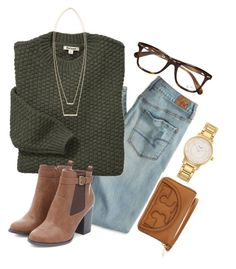 """""""10 from 150!!! """" by madelyn-abigail ❤ liked on Polyvore featuring American Eagle Outfitters, Barbour, Tory Burch, Ray-Ban, Kate Spade and Jennifer Zeuner"""