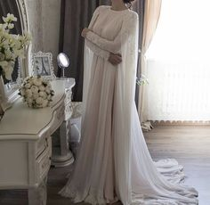 The Latest Hijab Wedding Dresses For The Bride of 2018 Hijab Prom Dress, Muslimah Wedding Dress, Muslim Wedding Dresses, White Wedding Dresses, Designer Wedding Dresses, Bridal Dresses, Malay Wedding Dress, Muslim Wedding Gown, Wedding Abaya