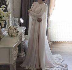 The Latest Hijab Wedding Dresses For The Bride of 2018 Hijab Prom Dress, Muslimah Wedding Dress, Hijab Wedding Dresses, White Wedding Dresses, Designer Wedding Dresses, Bridal Dresses, Muslim Wedding Gown, Wedding Abaya, Malay Wedding Dress
