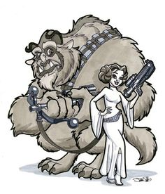 Love this one, but then I'm beauty and the beast bias. #Mashup #Disney #Starwars