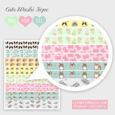 Free Printable Washi Tape from lifewithmayra
