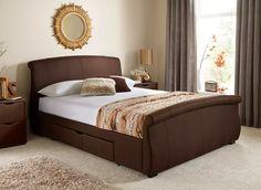 medium brown corraya queen panel bed view 1 | master | pinterest