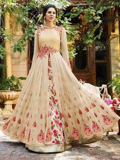 Anarkali salwar kameez readymade designer party wear suit fabric for women #Handmade #SalwarKameez