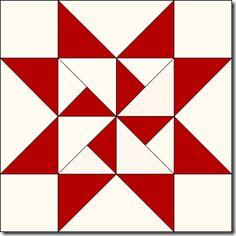 Fabric Jules - Julie's Wild Quilt Shop Adventures: Loyal Union Sampler Block H-10 Pinwheel Star