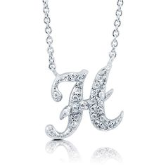 """BERRICLE Sterling Silver CZ Personalized Initial Letter """"""""H"""""""" Pendant... ($49) ❤ liked on Polyvore"""