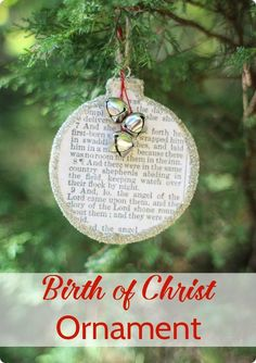 Easy birth of Christ Christmas ornament to celebrate the true meaning of Christmas.