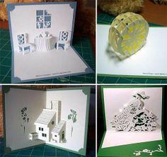 Free DIY Kirigami Greetings Cards Patterns