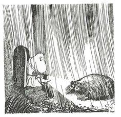 "A Hermit in Tove Jansson's ""Moomin"" Books - Articles Moomin Books, Tove Jansson, Moomin Valley, Children's Book Illustration, Illustrators, Fairy Tales, Creatures, Troll, Fantasy"