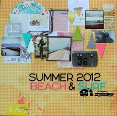 Summer 2012 Beach & Surf - by Wendy Morris using products from American Crafts, including Zing! Embossing Powder, Amy Tangerine Sketchbook and Dear Lizzy Neapolitan.