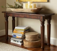 pottery barn console tables | Pottery Barn Hyde Turned-Leg Console Table