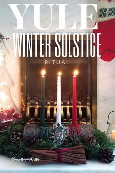 Light your DIY Pagan Yule Log and celebrate the Winter Solstice with a simple Yule Ritual from The Witch at OneandSeventy s Book of Shadows. Winter Solstice Rituals, Winter Solstice Traditions, Solstice And Equinox, Summer Solstice, Samhain, Pagan Yule, Mabon, Christmas Yule Log, Winter Christmas
