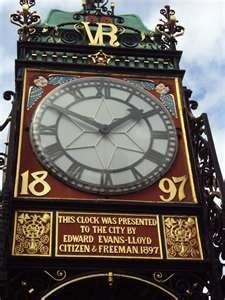 Eastgate Clock ~ Chester, England..... The Eastgate clock is Chester's best known landmark and the second most photographed clock in the world after Big Ben. www.justforclocks.com