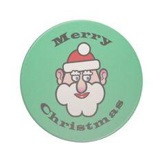 Merry Christmas Christmas Santa Claus Sandstone Coaster - diy cyo customize unique special