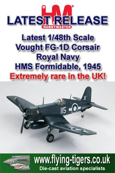 HA8204 Magnificent New 1/48th Scale Vought FG-1D Corsair 'Royal Navy VC Winner' - Magnificent new Corsair in Royal Navy colours - Last few models available now!