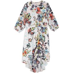 Melissa McCarthy Shell Floral Explosion Keyhole Maxi Dress ($80) ❤ liked on Polyvore featuring plus size women's fashion, plus size clothing, plus size dresses, plus size, high low maxi dress, floral maxi dress, plus size long dresses and plus size maxi dresses