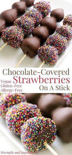 Lower Excess Fat Rooster Recipes That Basically Prime Chocolate-Covered Strawberries On A Stick Dairy-Free Strength And Sunshine What's Better Than A Chocolate-Covered Strawberry? Chocolate Covered Strawberries On A Stick Turn The Classic Choc Mini Desserts, Valentine Desserts, Easy Desserts, Dessert Recipes, Valentines Recipes, Dairy Free Chocolate, Chocolate Treats, Homemade Chocolate, Chocolate Art
