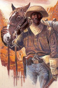 2nd Lieutenant, 9th Calvary. Buffalo Soldiers Paintings and Art - Bobb Vann