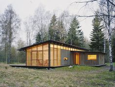 Weekend Cabin: Trosa, Sweden - Swedish vacation home has a heated core, open extremities, reflecting the duality of seasons
