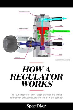 How a Scuba Diving Regulator's First Stage Works — Like the diver's beating heart that moves air from the lungs to the rest of the body, the scuba regulator's first stage provides the critical connection between divers and the air in our cylinder, allowing us to work and play underwater.