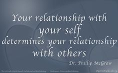 So true!  Dr. Phil has some good advice!!