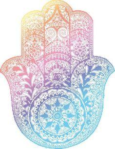 Rainbow Hamsa by adjsr Hamsa Design, Design Art, Mandala Wallpaper, Hamsa Art, Psychedelic Drawings, Punk Jewelry, Yoga Jewelry, Hippie Jewelry, Hamsa Tattoo