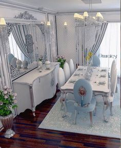 sacrifices for signs of love, home living room decorations 71 Home Living Room, Dining Room Design, Luxury Dining Room, Dinning Room Decor, Classic Dining Room, Room Decor, Home Design Decor, Home And Living, Living Room Designs