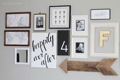 Easy DIY home decor idea: Learn how to create a gorgeous script art canvas!   LoveGrowsWild.com