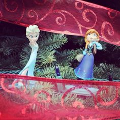 Anna and Elsa are in our tree, will they be under yours tomorrow? #DisneyInfinity