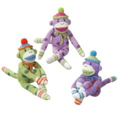 6 Stuffed Monkeys by Gordon Companies, Inc. $115.50. 6 Stuffed Monkeys/Officially Licensed Monkeez Merchandise/Recommended for ages 3 and up/9''H x 2.75''W x 2''D/made of acrylic yarn and magnet/you get 2 of each Monkey