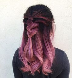 Dusty Pink Ombre Hair