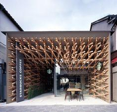 stArbucks coffeE,  Dazaifu Dazaifu Tenman gū, Kengo Kuma High Design, Design Café, Store Design, Japan Design, Tokyo Design, Design Shop, Wood Design, Modern Design, Design Ideas