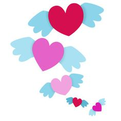 Silhouette Design Store - View Design #115025: flock of hearts
