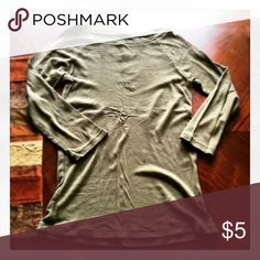 GAP Shirt Olive green 3/4 sleeve GAP shirt. Size M GAP Tops