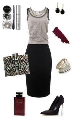 """Black skirt"" by anik-azc on Polyvore featuring moda, Alexander McQueen, Lanvin, Casadei, Miss Selfridge, Effy Jewelry, Bobbi Brown Cosmetics, Dolce & Gabbana Fragrance, Lipstick Queen y women's clothing"