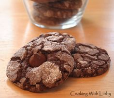Cooking With Libby: Chocolate Mocha Crinkle Cookies -- cake mix cookies with a little coffee!