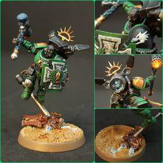 Warhammer 40k Salamanders, Salamanders Space Marines, Warhammer 40000, Warhammer Tabletop, Warhammer 40k Miniatures, Mini Paintings, Tabletop Games, War Hammer, Crusaders