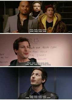 Brooklyn Nine-Nine, no doubt no doubt Brooklyn Nine Nine Funny, Brooklyn 9 9, Best Tv Shows, Favorite Tv Shows, Movies And Tv Shows, Brookly Nine Nine, Charles Boyle, Jake And Amy, Jake Peralta