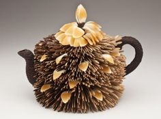 bamboo sculpture-Bamboo Teapot by Charissa Brock, www.charissabrock.com