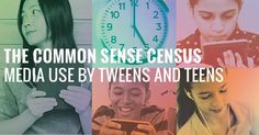 The Common Sense Census: Media Use by Tweens and Teens is a large-scale study that explores young people's use of the full range of media.