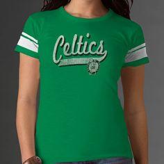NBA '47 Brand Boston Celtics Women's Gametime Sweep T-Shirt - Kelly Green