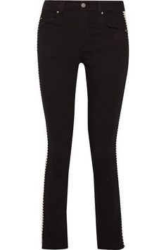 ETOILE ISABEL MARANT Haven striped mid-rise straight-leg jeans. #etoileisabelmarant #cloth #jeans